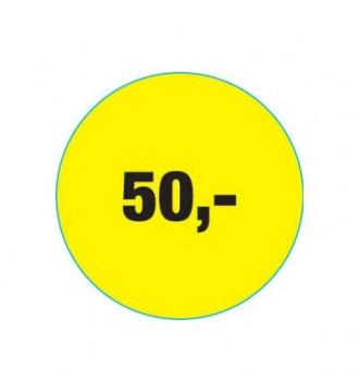 Rabatklistermærke 50 kr, rabatklistermærke, mærkning - www.boxel.dk