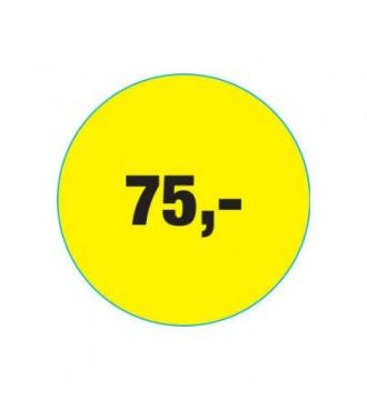 Rabatklistermærke 75 kr, rabatklistermærke, mærkning - www.boxel.dk