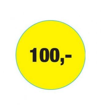 Rabatklistermærke 100 kr, rabatklistermærke, mærkning - www.boxel.dk