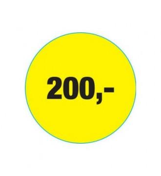 Rabatklistermærke 200 kr, rabatklistermærke, mærkning - www.boxel.dk