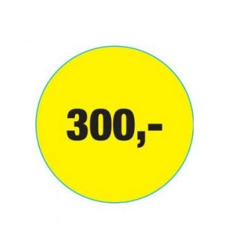 Rabatklistermærke 300 kr, rabatklistermærke, mærkning - www.boxel.dk