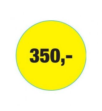 Rabatklistermærke 350 kr, rabatklistermærke, mærkning - www.boxel.dk