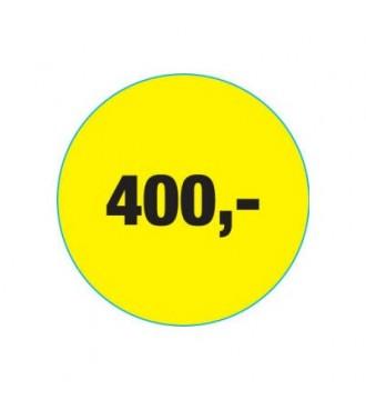 Rabatklistermærke 400 kr, rabatklistermærke, mærkning - www.boxel.dk