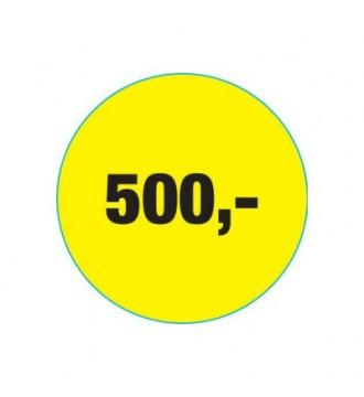Rabatklistermærke 500 kr, rabatklistermærke, mærkning - www.boxel.dk