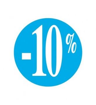Rabatklistermærke 10%, rabatklistermærke, mærkning - www.boxel.dk