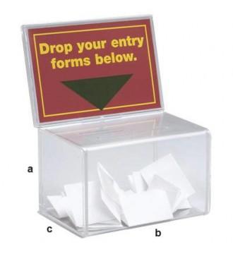 Stemmeboks med skilteholder