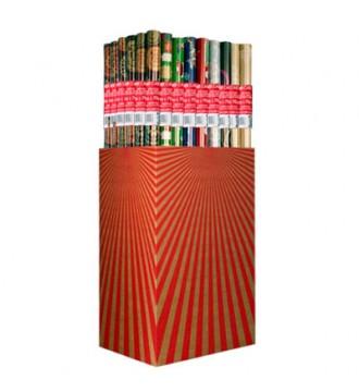 Julegavepapir, kasse med 55 ruller