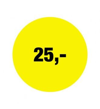 Rabatklistermærke 25 kr, rabatklistermærke, mærkning - www.boxel.dk