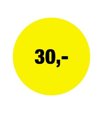 Rabatklistermærke 30 kr, rabatklistermærke, mærkning - www.boxel.dk
