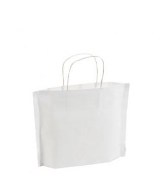Hvid papirpose 30x8x24 cm