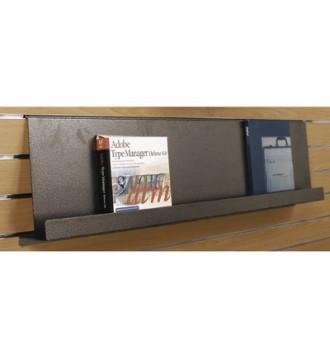 Brochureholder til slatboard, SLATBOARD inventarsystem, slatboardstænger, ophæng, displays, butiksinventar - www.boxel.dk
