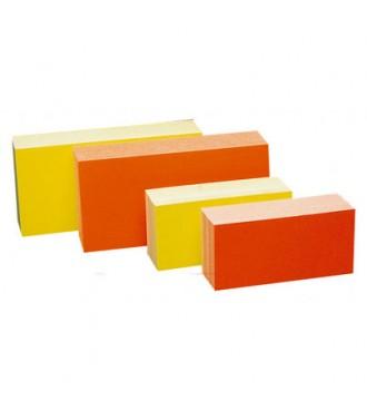Farvede papskilte/prisskilte, 20x10 cm