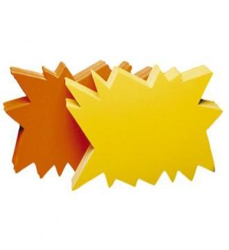 Farvede papskilte/prisskilte 20x10 cm