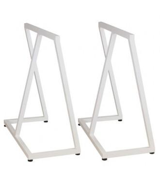 bordstel, hvid, bukke - www.boxel.dk