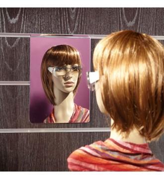 Akrylspejl til slatboard, SLATBOARD inventarsystem, slatboardstænger, ophæng, butiksinventar, displays - www.boxel.dk