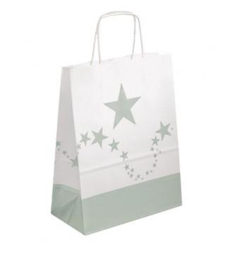 Papirpose med sølvstjerner