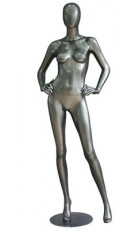 Faceless damemannequin med egghead