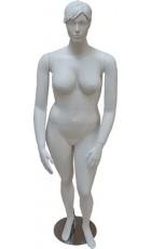 XL damemannequin med hoved. MAT HVID