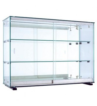 Glasvitrine som vægmodel, 78x25x55 cm