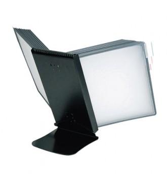 Indeksstander til bord, sort, diske, skilte - www.boxel.dk