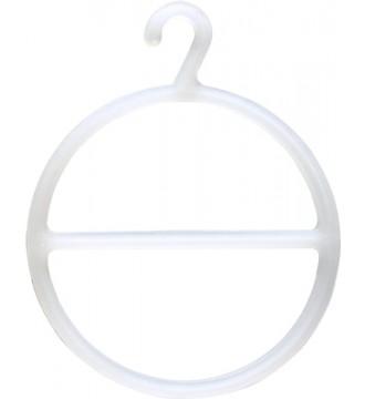 Tørklædering Ø12 cm, transparent, bøjler - www.boxel.dk