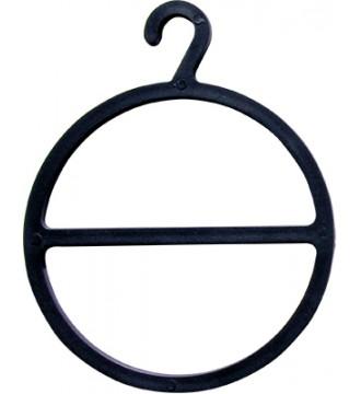 Tørklædering Ø12 cm, sort, bøjler - www.boxel.dk