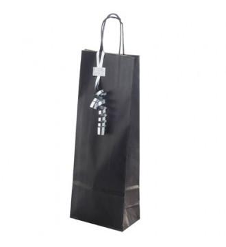 Sort gavepose til vin