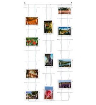postkort holder til væg, hvid, kontorartikler - www.boxel.dk