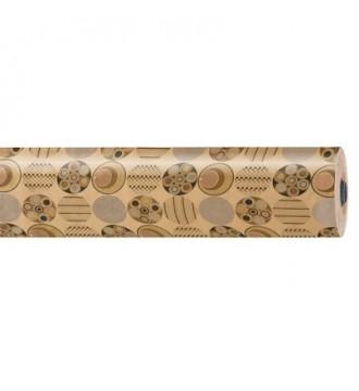 Gavepapir med mønster choko guld - emballage