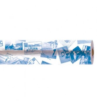 Gavepapir med motiv old style photos - emballage