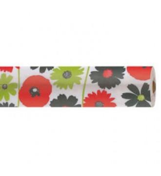 Gavepapir med motiv blomster - emballage
