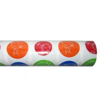 Gavepapir med børnemotiv bobler - emballage