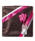 Julegavepapir med sorte kronblade - emballage