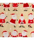 Julegavepapir med nisser, gavepapir - emballage