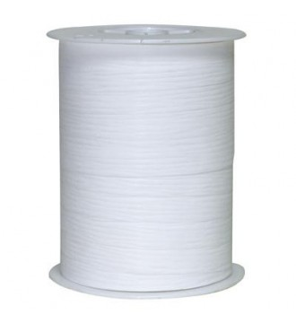 Gavebånd, mat hvid med bølgemønster - emballage