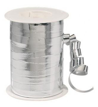 Metallic gavebånd, sølv - emballage