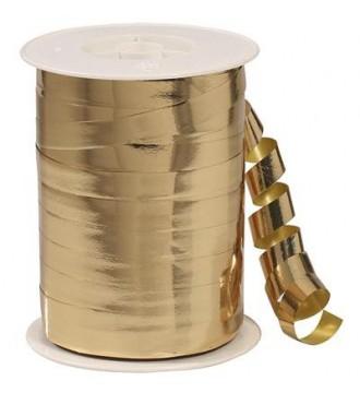 Metallic gavebånd, guld - emballage