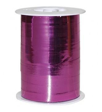 Metallic gavebånd, fuchsia - emballage