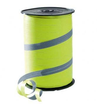 Tofarvet gavebånd, limegrøn/grå - emballage