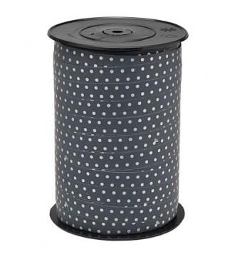 Gavebånd, antrasitgrå med prikker - emballage