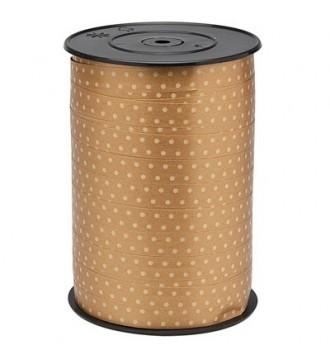Gavebånd, guld med prikker - emballage