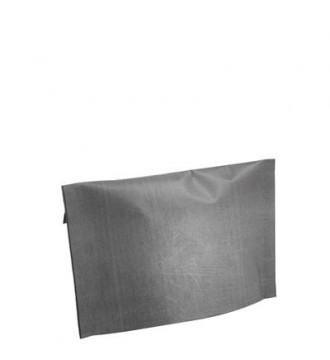 Grå gavepose med klæb, 30x10x18 cm - emballage