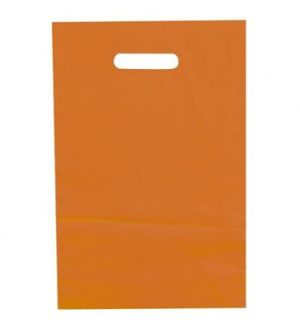 Orange plastikpose 35x4x45 cm