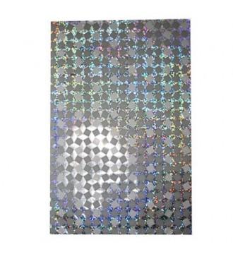 Sølvfarvet gavepose med hologrammønster 20x32 cm - emballage