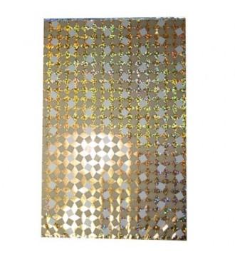 Guldfarvet gavepose med hologrammønster 20x32 cm - emballage