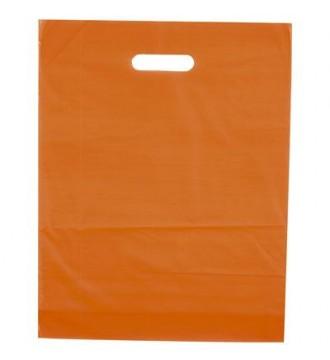 Orange plastikpose 50x5x50 cm