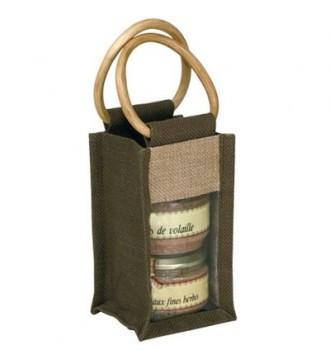 Gavepose med vindue 10½x10x18 cm - emballage