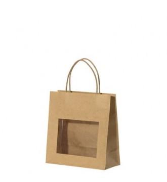 Gavepose med vindue 18x8x19 cm - emballage