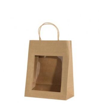 Gavepose med vindue 22x11x28 cm - emballage
