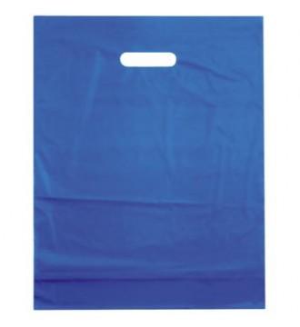 Azurblå plastikpose 50x5x50 cm